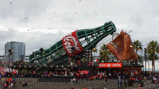 AT&T Park : Kids area with slides in the Coke bottle