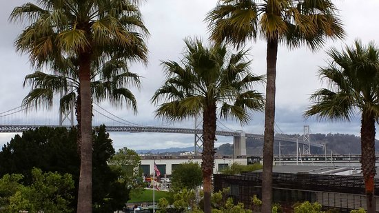 AT&T Park : View of the bay bridge from the ballpark