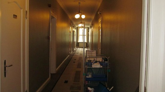 Hotel Borg by Keahotels: hallway door to my room on left