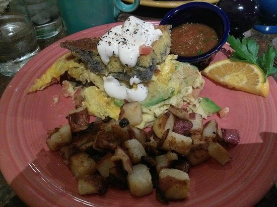 Morning Star Cafe : Marbled Corn Bread Scramble with Diced Redskins