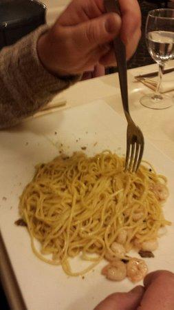 All'Ancora: Tagliolini gamberi e tartufo