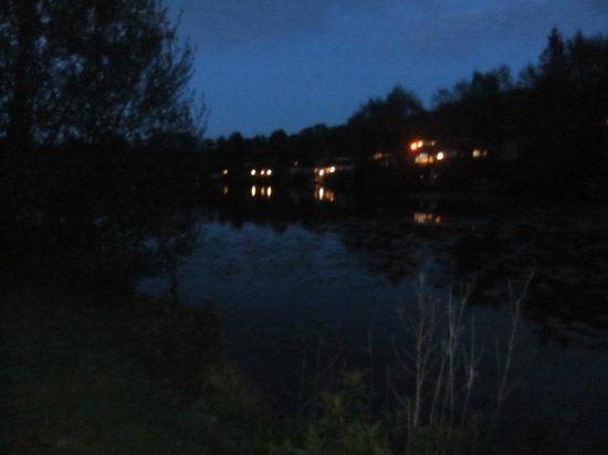 Coghurst Hall Holiday Park - Park Holidays UK : Lake area at night