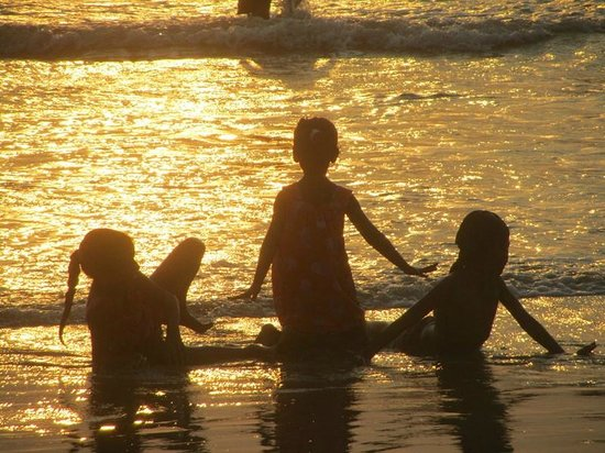 Benaulim Beach: coucher de soleil