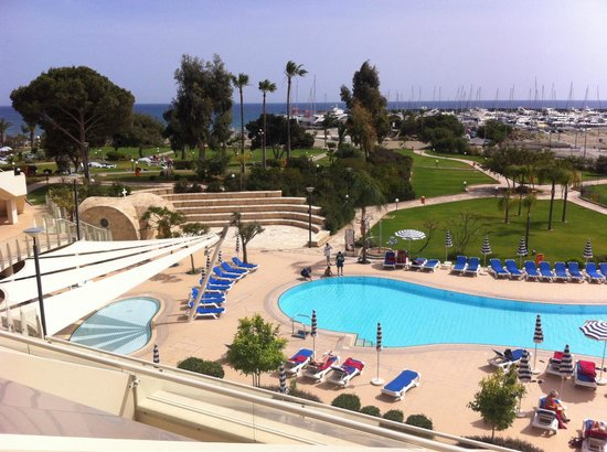 St Raphael Resort: View from sea facing room