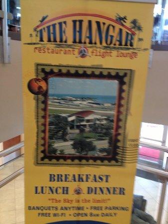The Hangar Restaurant & Flight Lounge: Inside sign