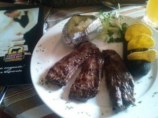 Restaurante Las Antorchas: Arrachera (Entraña Marinada), corte de res Angus, suave, tierno Jugoso y cob mucho Sabor... term