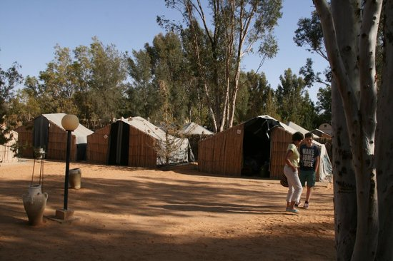 Campement El biben: Vue sur les tentes
