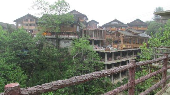 Dragon's Backbone Rice Terraces : Walk through the village.  Enjoy a meal here.