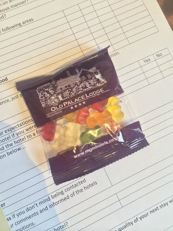 The Old Palace Lodge Hotel: The 'complimentary bag of Haribo'
