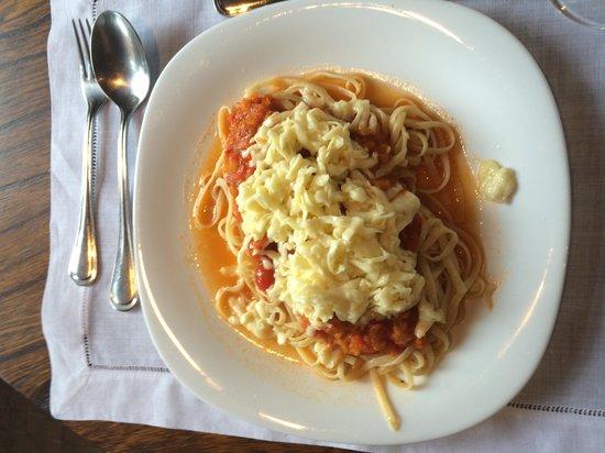 Carmel Charme Resort: Tagliatelle al pomodoro