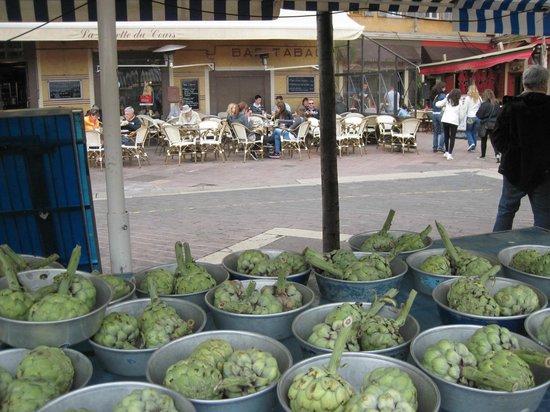 Marché aux Fleurs Cours Saleya: Gemüse