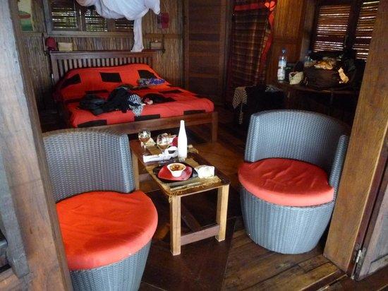 Analatsara: Room and chairs from balcony