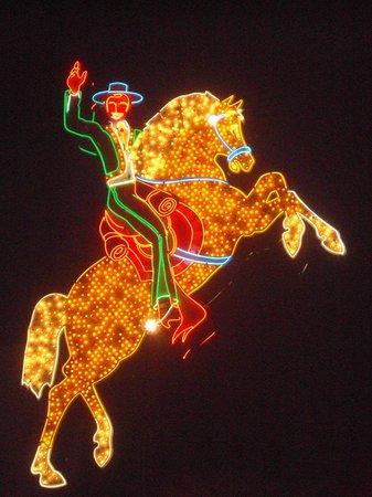 Fremont Street Experience : Un cheval brillant de mille feux
