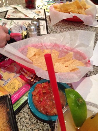 Chuy's: Chips and salsa.