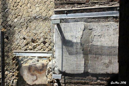 Ruins of Herculaneum : Iscrizioni