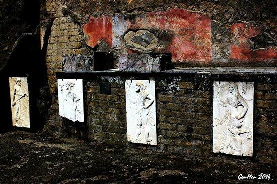 Herculaneum Ercolano : Minerva, Mercurio, Nettuno e Vulcano
