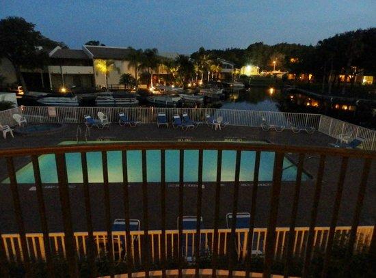 Vista Hotel on Lake Tarpon: view from room 215