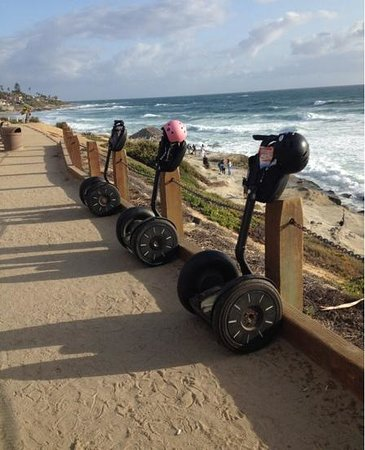 We Love Tourists: our segways while we went down to take pictures