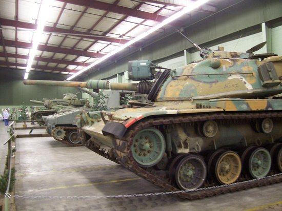 Tank Museum: The museum has many rows like this