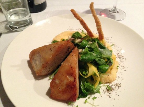 River Restaurant and Vineyard: Pork belly