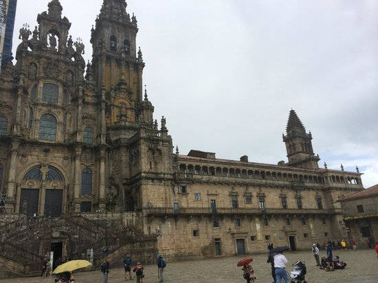 Hotel Compostela: walk to end of street from hotel leads you to this view of cathedral