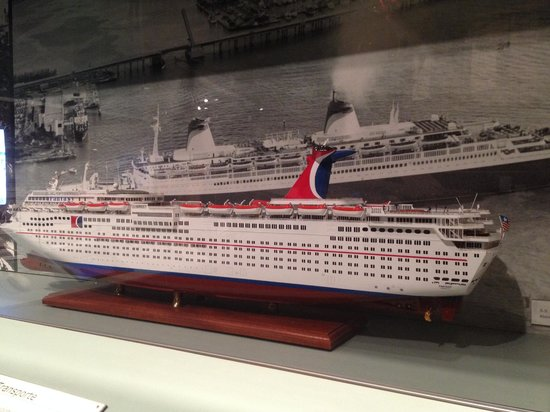 HistoryMiami: model of First Carnival Cruise ship