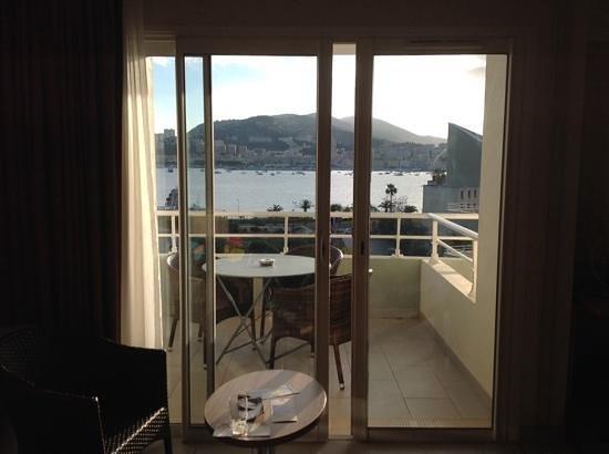 Hôtel Best Western Plus Ajaccio Amiraute: vue de notre chambre