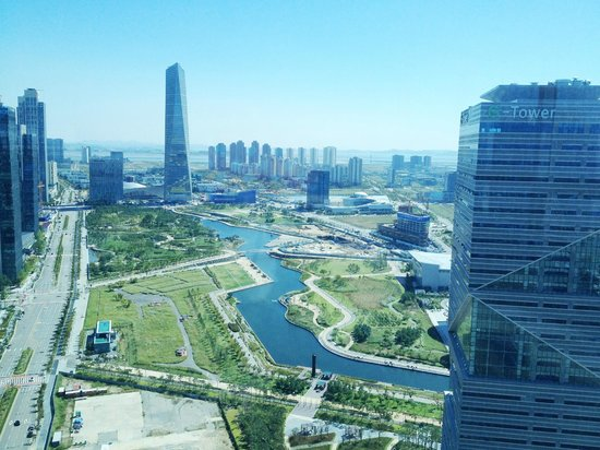 Incheon, South Korea: Park view from one of the neighboring buildings