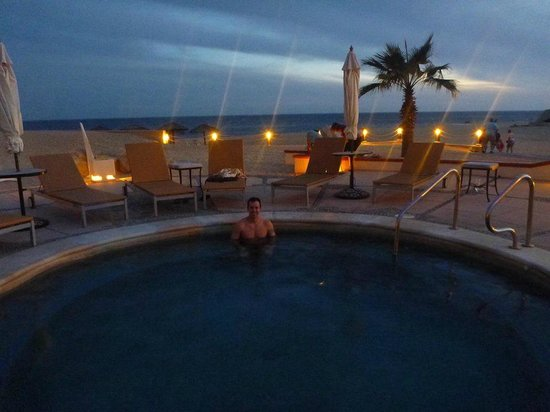 Solmar Resort: hot tub, watching the sunset over the ocean