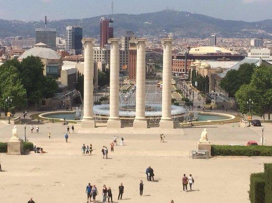 Museu Nacional d'Art de Catalunya - MNAC: View from the top