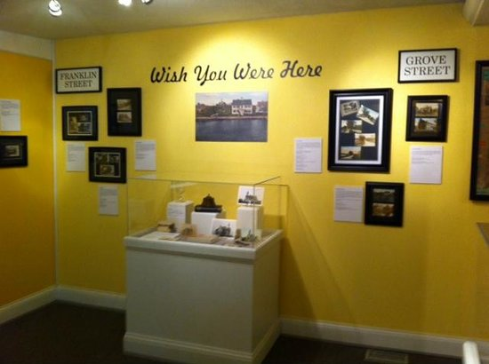 "Sandwich Glass Museum: ""Wish you were here"" Exhibit Room"