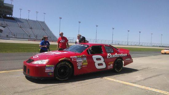 Rusty Wallace Racing Experience: My Wife of course in the 8