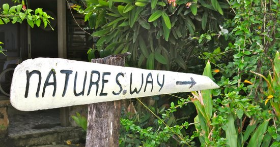 Nature's Way: Entrance sign