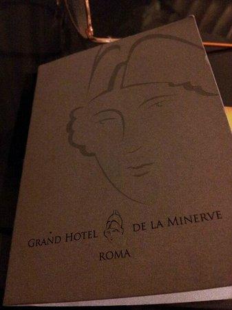 Grand Hotel de la Minerve: tarjeta de habitacion