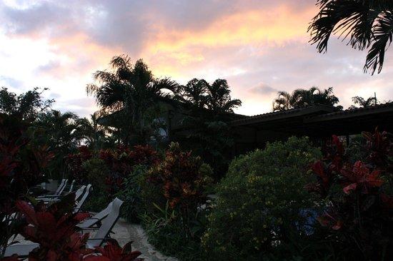 Arenal Kioro: Great sunset after rain