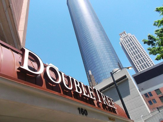 DoubleTree by Hilton Hotel Atlanta Downtown : outdoors cool angle of sign and buildings