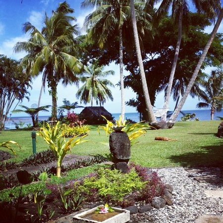 Paradise Taveuni : View from the ocean view bungalow