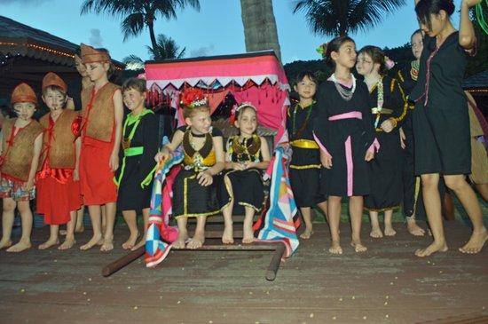"Shangri-La's Rasa Ria Resort & Spa: My daughter as ""Princess"" at the lighting ceremony."