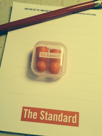 The Standard, Hollywood : Hotel Issue Ear Plugs