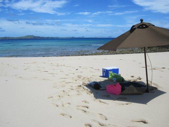 Yasawa Island Resort and Spa: View looking north from Yawini Island...