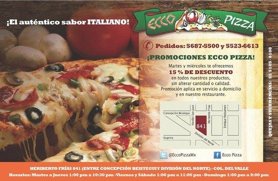 Ecco Pizza: Flyer 2014