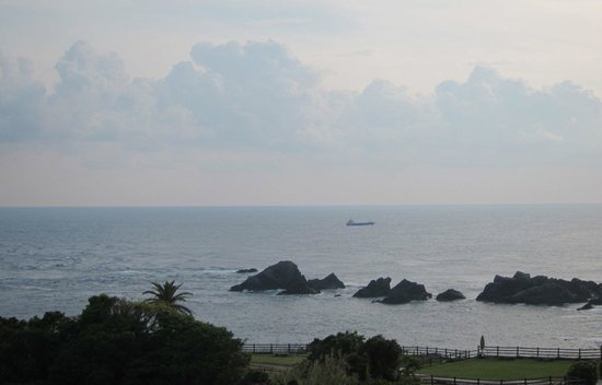 Misaki Lodge Nishida: View from the lodge over the Pacific Ocean
