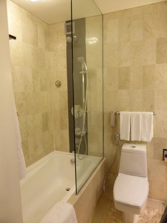 Holiday Inn Singapore Orchard City Centre: shower tub & toilet