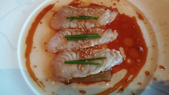 Nobu : White Fish sashimi