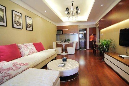 Youlemei Apartment Hotel Chongqing Xiexin: 行政套房客厅