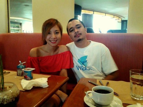 Marco Polo Davao: my boyfriend and i after enjoying a hearty meal