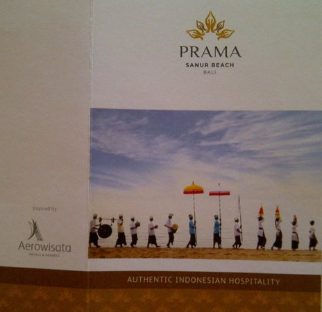 Prama Sanur Beach Bali: Welcome Card