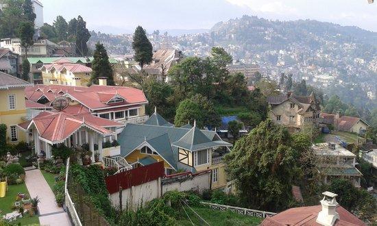 Mayfair Darjeeling: view from suit room balcony.