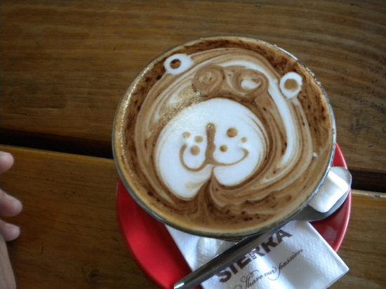 Victoria's Cafe Kitchen Bar : How darn cute is this coffee?