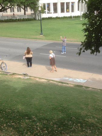 Dealey Plaza National Historic Landmark District: View from where Mr Zapruder filmed his famous film
